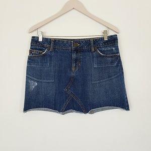 GAP JEANS Denim Distressed Mini Skirt